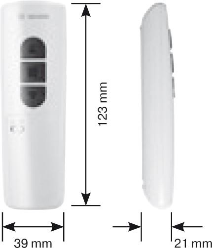 Becker MC441-II Weiß Maße