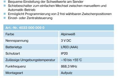 Becker SWC411 Technische Daten