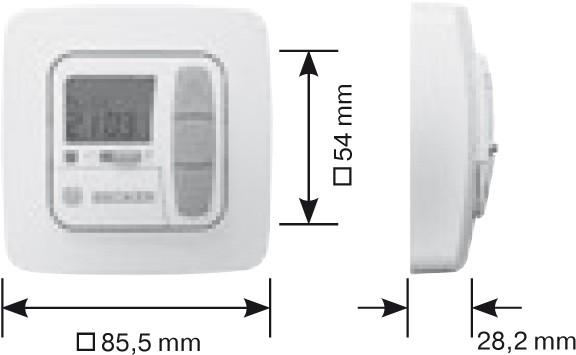 Becker TC511 Maße