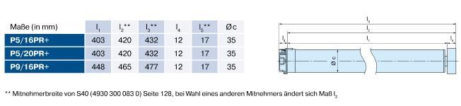 Becker P-E01 Rollladenantrieb für Wickelwellen Maße