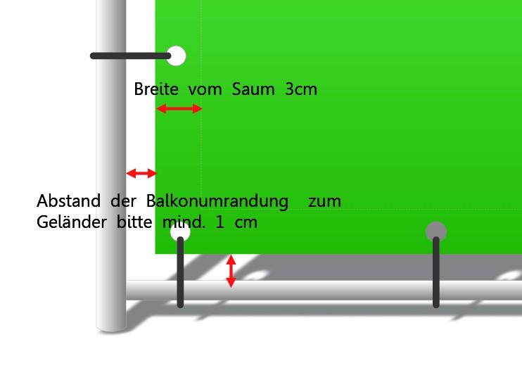 Balkonumrandung Maße